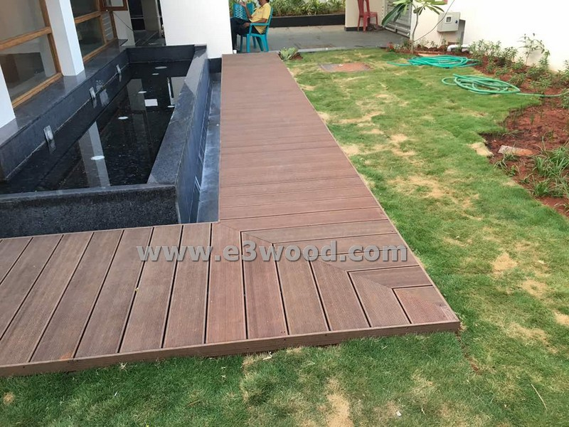 Wood Plastic Composite decking boards India - E3Wood