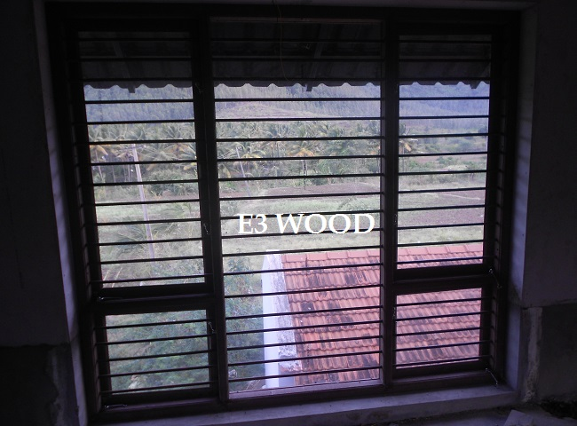 Wood polymer composite windows